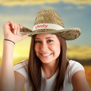 Adult Cowboy Hat - Imprinted Bands Available!